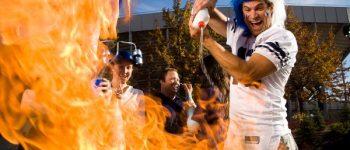Fußball-Fan am Grill schießt übers Ziel hinaus