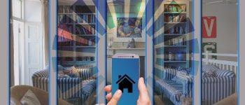 Finger drücken auf ein Smartphone