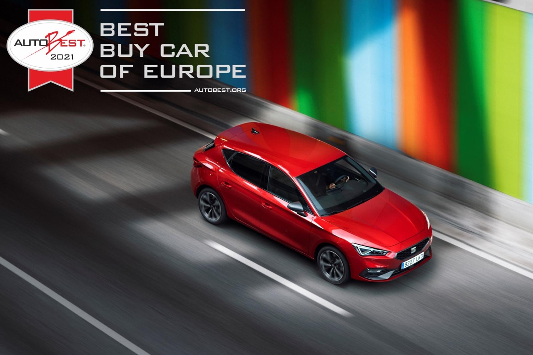 """""""Autobest""""-Sieger: Der Seat Leon ist das """"Best Buy Car of Europe 2021"""". © Seat / TRD mobil"""
